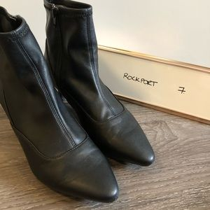 Black stretchy ankle boots by Rockport
